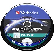 VERBATIM M-DISC DVD R 4X 4,7GB Inkjet Printable 10pcs
