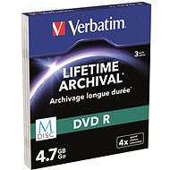 VERBATIM M-DISC DVD-R 4X 4.7GB MATT SILVER SLIM 3pcs/Case