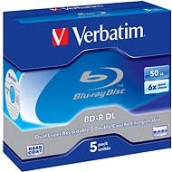 Verbatim BD-R Dual Layer 50 GB 6x, 5 Pieces in a Box - Media