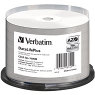 VERBATIM CD-R DLP 80min. 52x WIDE Profesional Printable 50-cake - Media