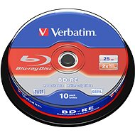 VERBATIM BD-RE SL 25GB, 2x, spindle 10pcs - Media