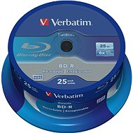 VERBATIM BD-R SL DataLife 25GB, 6x, spindle 25pcs - Media