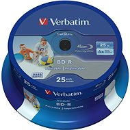 VERBATIM BD-R SL DataLife 25GB, 6x, printable, spindle 25pcs - Media