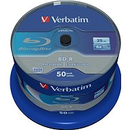 VERBATIM BD-R SL DataLife 25GB, 6x, spindle 50pcs - Media