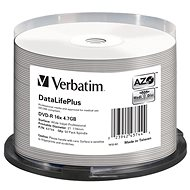 VERBATIM DataLifePlus DVD-R 4.7GB, 16x, Printable, Spindle 50pcs - Media