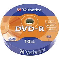 VERBATIM DVD-R AZO 4.7GB, Wrap 10 pcs - Media