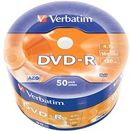VERBATIM DVD-R AZO 4.7GB, 16x, Wrap 50 pcs - Media