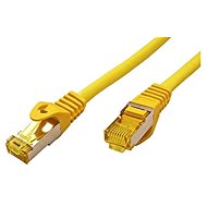 OEM S/FTP patch cable Cat 7, with RJ45 connectors, LSOH, 0,25m, yellow