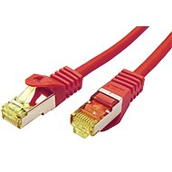 OEM S/FTP patchcable Cat 7, with RJ45 connectors, LSOH, 3m, red