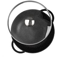 WOK GRANDE with Diameter of 32cm, Glass Lid - Wok