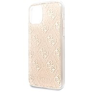 Guess 4G Glitter Back Cover for iPhone 11 Pro Max, Gold