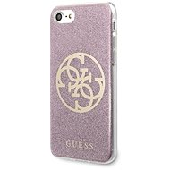 Guess Glitter 4G Circle for iPhone 8/SE 2020, Pink - Mobile Case