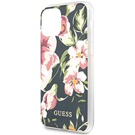 Guess Flower Shiny N.3 for iPhone 11, Navy - Mobile Case