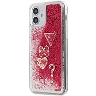 Guess Liquid Glitter Charms for Apple iPhone 12 Mini, Raspberry - Mobile Case