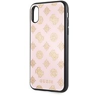 Guess Layer Glitter Peony for iPhone X/XS Light Pink - Mobile Case