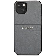 Guess PU Leather Saffiano Back Cover for Apple iPhone 13, Grey - Mobile Case