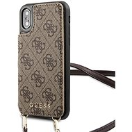 Guess 4G Crossbody Cardslot pouzdro pro iPhone X/XS, Brown - Mobile Case