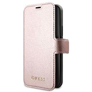 Guess Iridescent for Apple iPhone 12/12 Pro, Pink - Mobile Phone Case