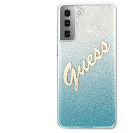 Guess TPU Vintage Back Cover for Samsung Galaxy S21 Gradient Light Blue - Mobile Case