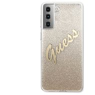 Guess TPU Vintage Back Cover for Samsung Galaxy S21 Gradient Gold - Mobile Case