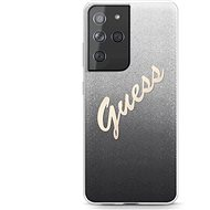 Guess TPU Vintage Back Cover for Samsung Galaxy S21 Ultra Gradient Black - Mobile Case