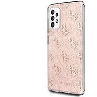Guess PC/TPU 4G Peony Glitter for Samsung Galaxy A52 4G/5G Pink - Mobile Case