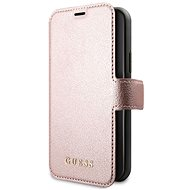 Guess Iridescent Book for iPhone 11 Pro, Black/Rose (EU Blister) - Mobile Phone Case