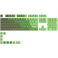 Glorious PC Gaming Race GPBT Keycaps - 114 PBT, ANSI, US-Layout, Olive - Replacement Keys