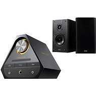 Creative Sound Blaster X 7 + E-MU XM7 Bookshelf Speakers - Set