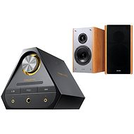 Creative Sound Blaster X 7 + E-MU XM7 Bookshelf Speakers (Brown) - Set