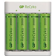GP Eco E411 + 4 × AA ReCyko 2000 - Battery Charger