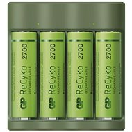 GP Everyday B421 + 4× AA ReCyko 2700 + USB - Battery Charger