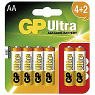 GP Ultra Alkaline LR06 (AA) 4+2 pcs in blister card - Disposable batteries