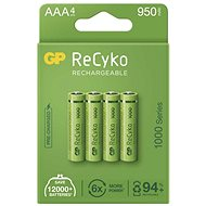 GP ReCyko 1000 AAA Rechargeable Battery (HR03), 4pcs - Rechargeable Battery