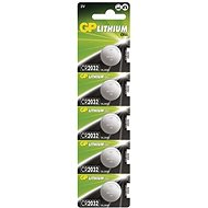 GP CR2032 Lithium 5pcs in Blister Pack - Button Battery