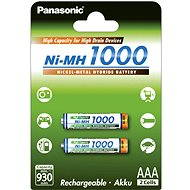 Panasonic NiMH 1000 AAA 930mAh 2pcs - Rechargeable battery