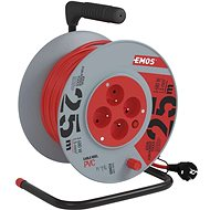 Emos Extension cable reel - 4 sockets 25m - Extension Cord