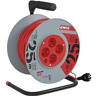 Emos PVC extension cable on the drum - 4 drawers 25m - Extension Cord