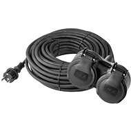 EMOS Rubber Extension Cord 15m Black - Extension Cord