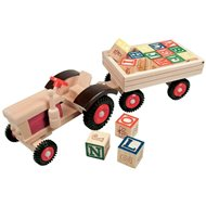 Bino Tractor with rubber wheels and siding - Toy Vehicle