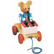 Bino pull-along toy mouse with a xylophone