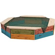 Woody Coloured wooden sandpit - Sandpit