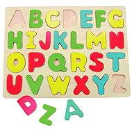 Woody Puzzle on the Plate - Alphabet