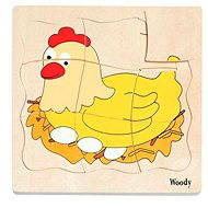 Woody Puzzle on Board - Chick Development - Puzzle