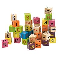 Woody Blocks with Letters and Numbers - Game set