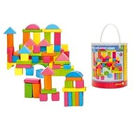 Woody Coloured Wooden Blocks - Game set