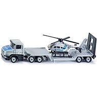 SIKU Blister - Trailer Truck with a Helicopter - Metal Model