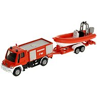 Siku Blister - Unimog Fire Engine with Boat - Metal Model