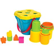 Playgro - Sorting Bucket With Stacking Cups - Interactive Toy