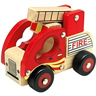 Bino Wooden Fire Truck - Toy Vehicle